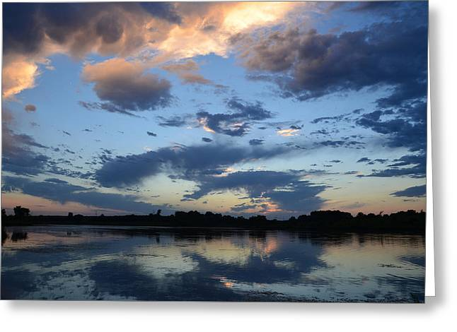Reflections Of Sky In Water Greeting Cards - Reflection Of The Day Greeting Card by Jarrod  Calvert