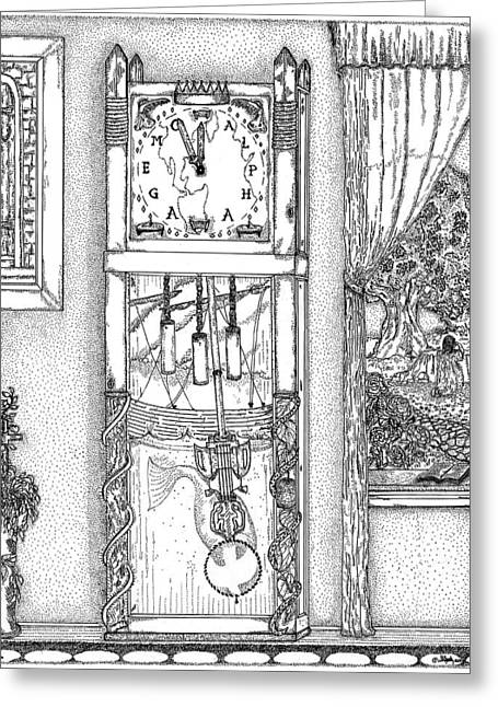 Inspirational. Pointillism Greeting Cards - Reflection Of Time Greeting Card by Glenn McCarthy Art and Photography