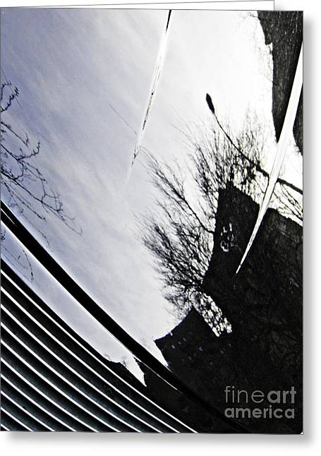City Art Greeting Cards - Reflection on a Parked Car 7 Greeting Card by Sarah Loft