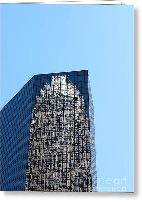 Charlotte Nc Prints Greeting Cards - Reflection Greeting Card by Robert Yaeger