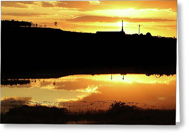 Religious Images Greeting Cards - Reflections Greeting Card by Adele Moscaritolo