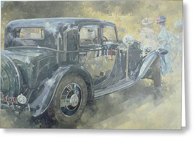 Stylish Car Greeting Cards - Reflections at Althorp Greeting Card by Peter Miller