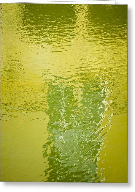 Reflections At Bath Spa Greeting Card by Christi Kraft