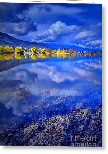 Willow Lake Greeting Cards - Reflections at Osoyoos Lake Greeting Card by Tara Turner
