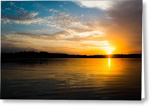 Reflecting Water Greeting Cards - Reflections at Sunset Greeting Card by Shelby  Young