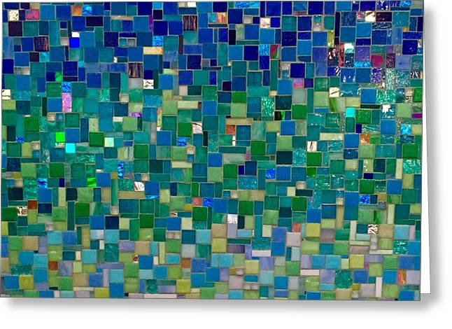 Wall-hanging Glass Greeting Cards - Reflections Greeting Card by Dianne Cutler