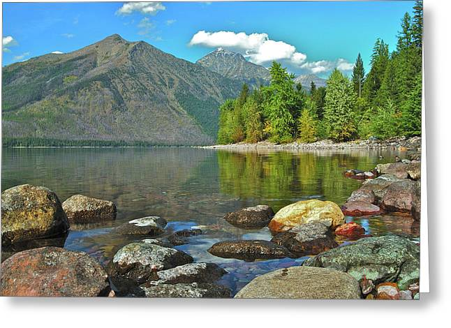 Reflections Glacier National Park  Greeting Card by Michael Peychich