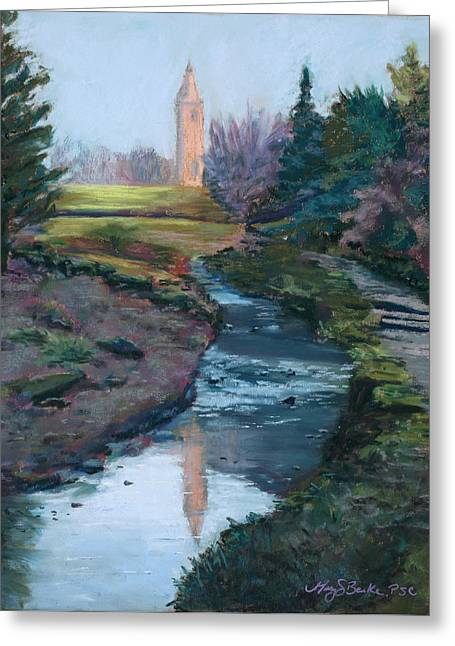 Stones Pastels Greeting Cards - Reflections in History Greeting Card by Mary Benke