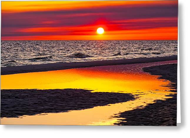 Reflections Greeting Card by Janet Fikar