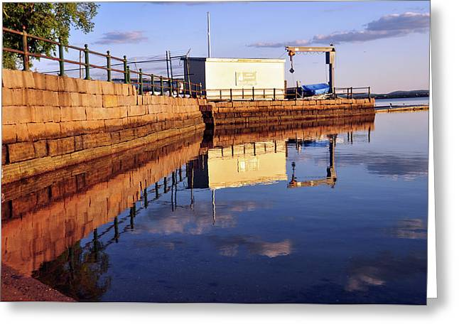 South Boston Prints Greeting Cards - Reflections Greeting Card by Joanne Brown