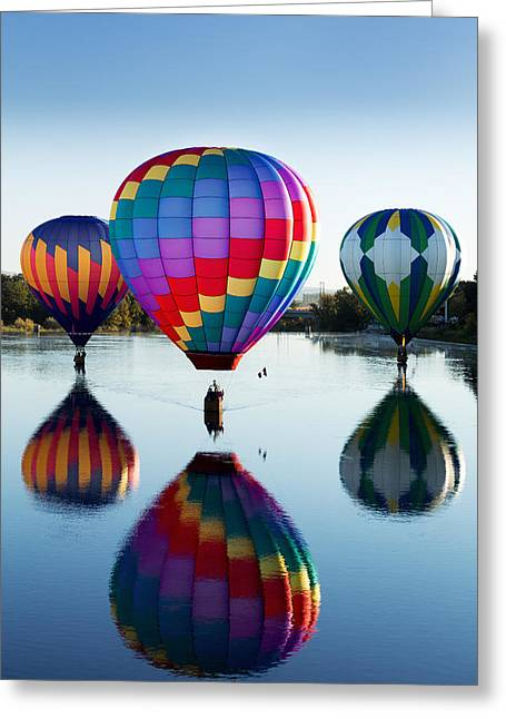 Inflation Greeting Cards - Reflections Greeting Card by Mary Jo Allen