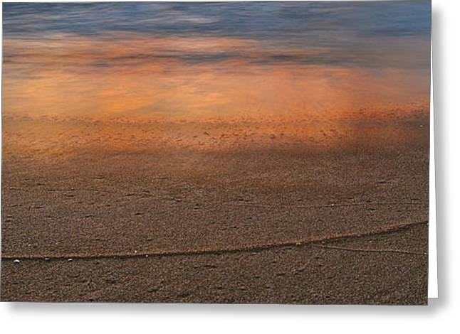 Beach Landscape Greeting Cards - Reflections Greeting Card by Michael Peychich