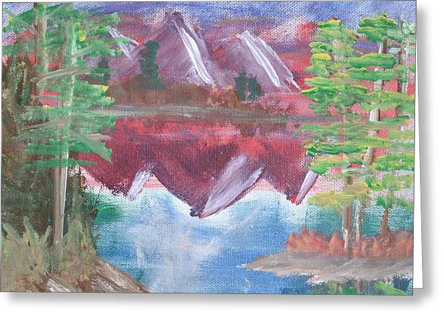 Bob Ross Paintings Greeting Cards - Reflections Greeting Card by Morgan McLaren
