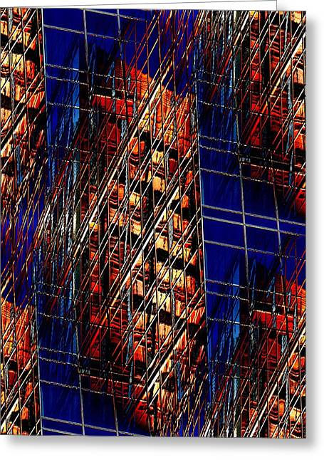 Reflections Of A City 3 Greeting Card by Tim Allen
