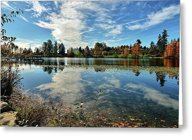 Reflections Of A Day Gone By Greeting Card by Tim Coleman