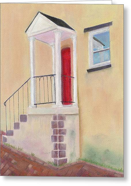 Brick Pastels Greeting Cards - Reflections of Baltimore Greeting Card by Arlene Crafton