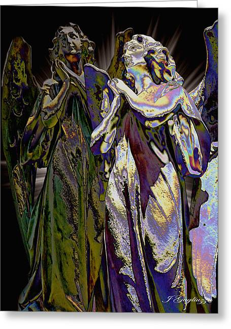 Guardian Angel Digital Greeting Cards - Reflections of Faith Greeting Card by Jean Gugliuzza