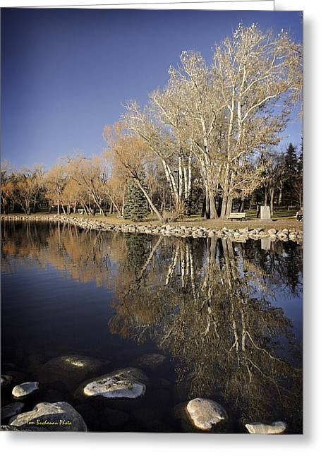 Reflections Of Henderson Greeting Card by Tom Buchanan