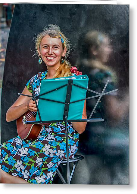 Creative People Greeting Cards - Reflections of Music Greeting Card by John Haldane