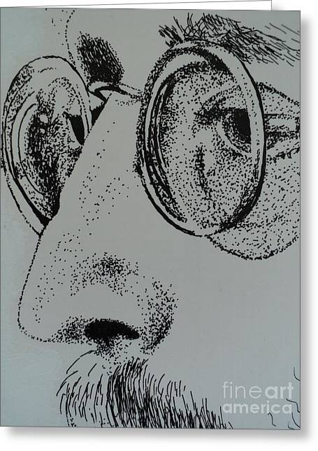 Song Writer Greeting Cards - Reflections of Peace John Lennon Greeting Card by Carla Carson