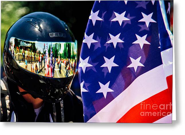 Rally Greeting Cards - Reflections Of Rolling Thunder Greeting Card by Tom Gari Gallery-Three-Photography