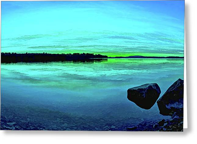 Beautiful Scenery Greeting Cards - Reflections of Serenity Panorama Greeting Card by Bill Caldwell -        ABeautifulSky Photography