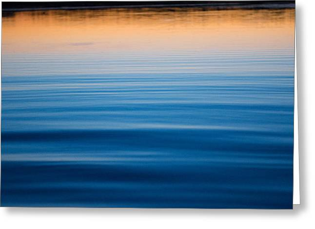 Sunset Abstract Greeting Cards - Reflections of the Night Greeting Card by Parker Cunningham