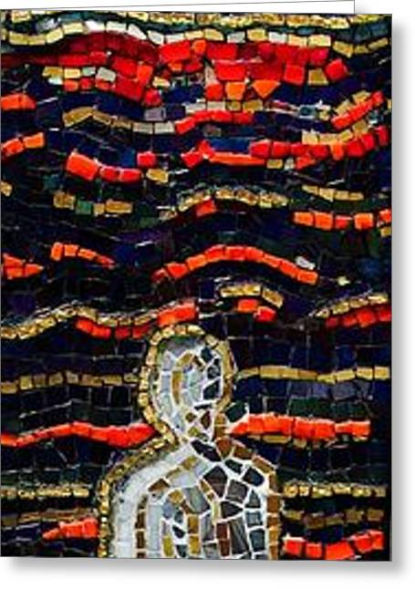 Meditation Glass Art Greeting Cards - Reflections Of Time  Greeting Card by Helen McLean