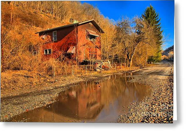 Reflections Of West Virginia Greeting Card by Adam Jewell