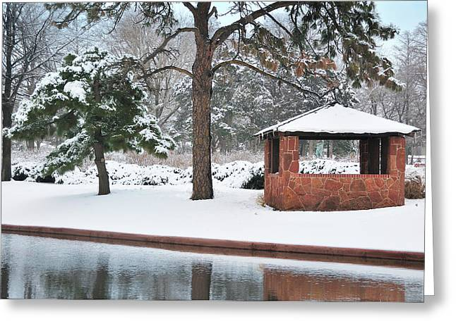 Reflections of Winter Greeting Card by Betty LaRue