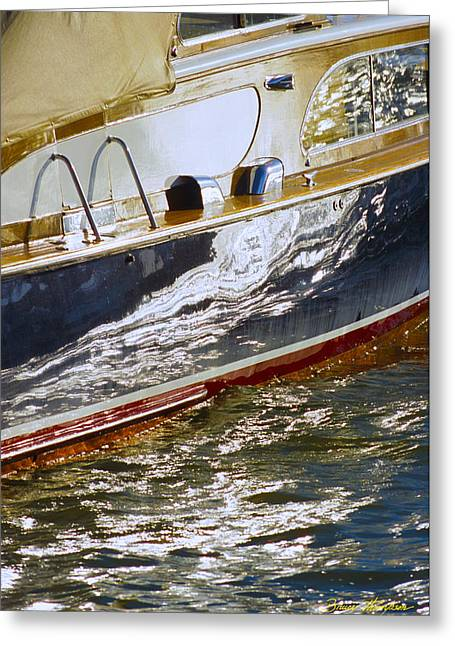 Reflections On Lorelei - Lake Geneva Wisconsin Greeting Card by Bruce Thompson