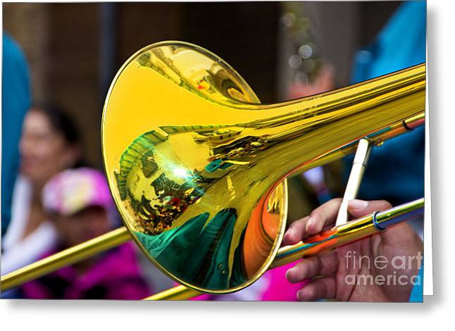 Reflections On Music II Greeting Card by Al Bourassa