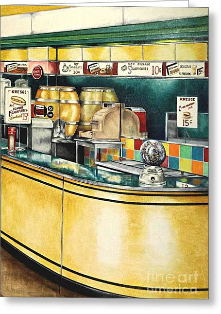 Dime Store Greeting Cards - Reflections Passed Greeting Card by David Neace