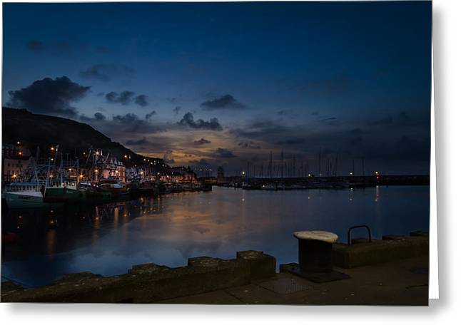 Fishing_boat Greeting Cards - Reflective Daybreak Greeting Card by Cliff Miller