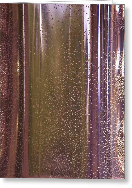 Water Jars Greeting Cards - Reflective in Purple Greeting Card by Linda Brody