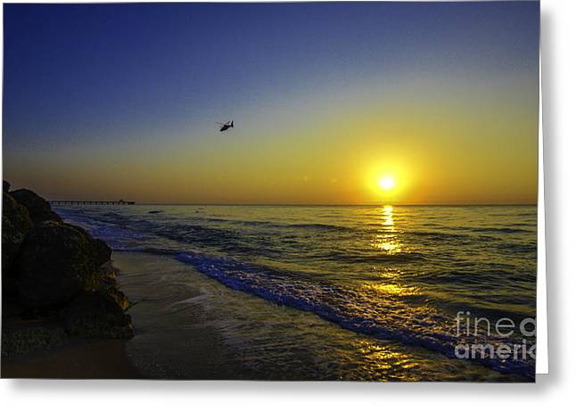 On The Beach Greeting Cards - Reflective Journey Greeting Card by Amanda Sinco