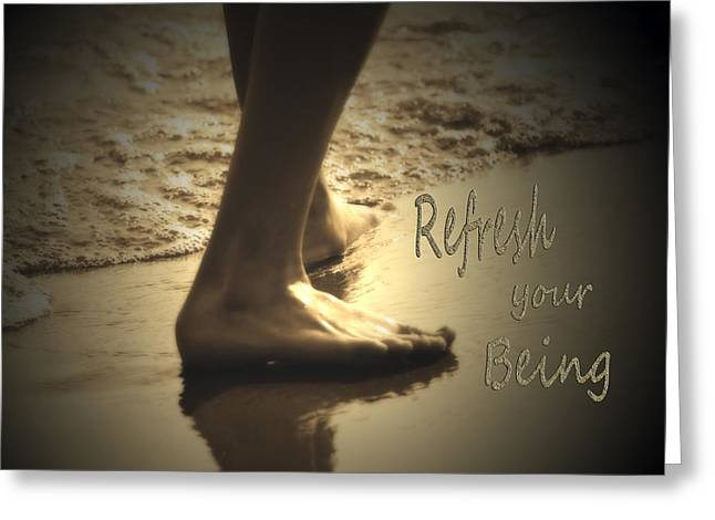 Refresh Your Being Spa Series Greeting Card by Cathy  Beharriell