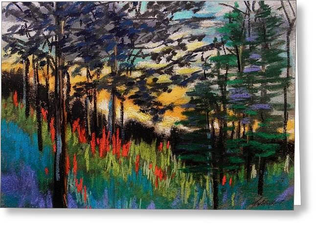 Refreshing Pastels Greeting Cards - Refreshing Sunset Greeting Card by John  Williams