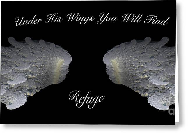 Psalms Greeting Cards - Refuge Greeting Card by Cheryl Young