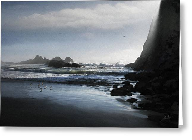 Refuge in the Shadow Greeting Card by Cliff Hawley