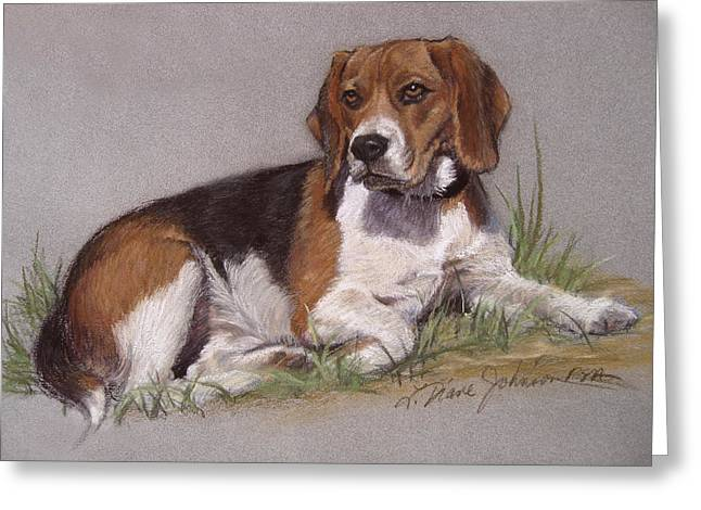 Pictures Of Dogs Greeting Cards - Regal Beagle Greeting Card by L Diane Johnson