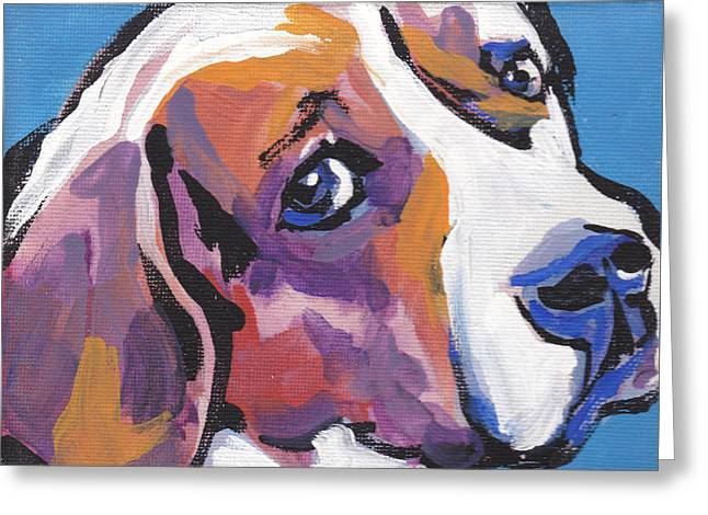 Beagle Greeting Cards - Regal Beagle Greeting Card by Lea