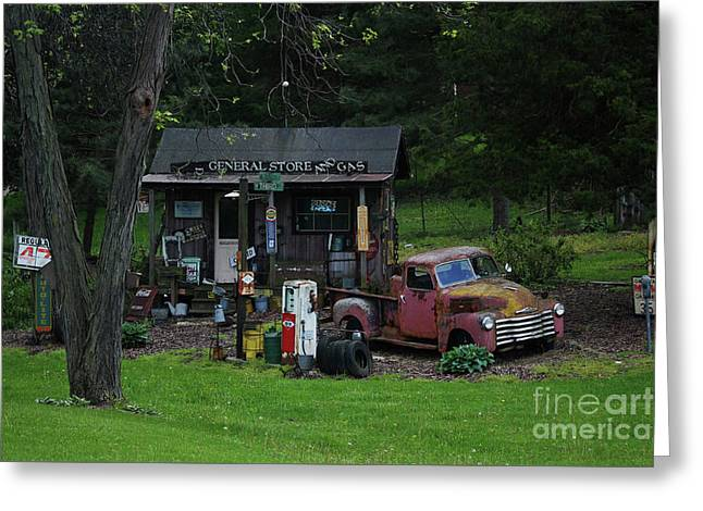 Regular Gas 47 Cents A Gallon Greeting Card by Laura Birr Brown