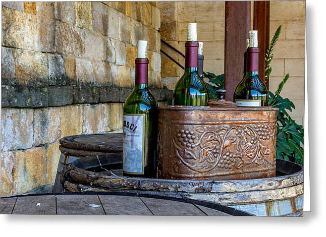 Merlot Greeting Cards - Regusci Winery Greeting Card by Bill Gallagher