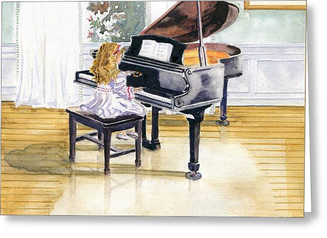 Daughter Gift Paintings Greeting Cards - Rehearsal Greeting Card by Melly Terpening