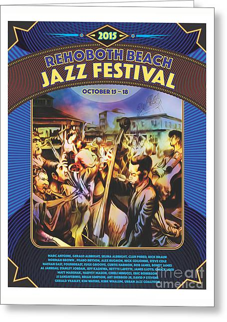 Rehoboth Beach Jazz Fest 2015 Greeting Card by Mike Massengale