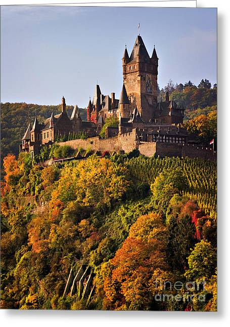 Travel Photography Greeting Cards - Reichsburg Castle Greeting Card by Louise Heusinkveld