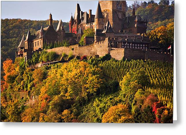Reichsburg Castle Greeting Card by Louise Heusinkveld
