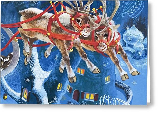 Reindeer Greeting Card by English School