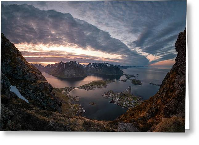 Reine Greeting Card by Tor-Ivar Naess